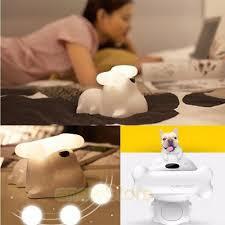 Dog Bone Bluetooth Usb Music Speaker Led Night Light Desk Bedside Lamp Kids Room