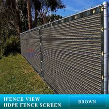 Ifenceview 5 X3 5 X50 Brown Uv Fence Privacy Screen Mesh Fabric Garden Outdoor Privacy Fence Screen Fence Screening Privacy Screen