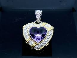judith ripka amethyst heart enhancer xl