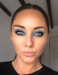kim kardashian inspired electric blue