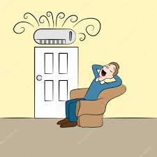 ductless air conditioner cartoon