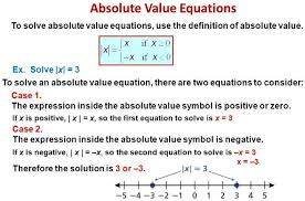 absolute value equations a plus topper
