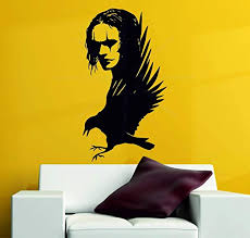 Amazon Com Wall Vinyl Decals The Crow Brandon Lee Gothic Movie Legend Wall Art Stickers Decals Vinyl Made In Usa Home Kitchen