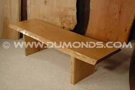 wood slab benches custom made wood