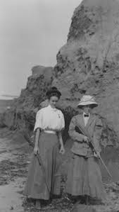Myrtle Johnson and Edna Watson Bailey with rifles   Library ...