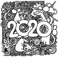 Kleurplaten Voor Volwassenen Nieuwjaar 2020