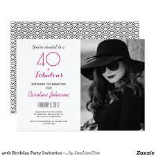 40 O Invitacion De La Fiesta De Cumpleanos 40 Y Cumpleanos 40