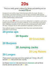 new 20 minute workout plan on navyfit