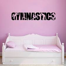 Gymnastics Vinyl Wall Art Sticker Decals Girls Bedroom Wall Decor Gymnast Silhouette Decal For Car Decoration Wall Stickers Aliexpress