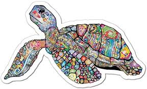Amazon Com Turtle Pattern Henna Ocean Animal Laptop Car Sticker Decal Outdoor Car Decal Vinyl Sticker Decal For Windows Bumpers Laptops Or Crafts 15inch Home Kitchen
