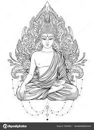Buntute Rodo Oren Sitik Volwassen Kleurplaat Boeddha