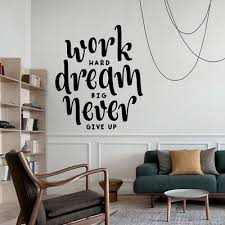 Work Hard Dream Big Wall Sticker Quotes Wall Art Stickers Bedroom Wall Decals 5 29 Picclick