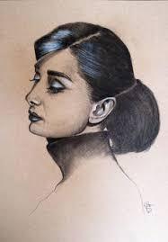 "La artista de arte de Saatchi Adriana Holmes; Dibujo, ""Retrato de Audrey  Hepburn"" #art | Celebrity drawings, Portrait, Portrait drawing"