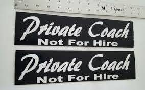 Buy 2 Private Coach Not For Hire Business Trucking Bus Limo Magnetic Signs Motorcycle In Smithville Missouri United States For Us 16 99