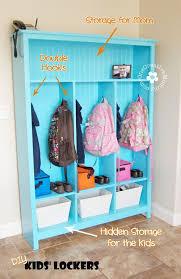 Make Your Own Storage Lockers Perfect For Kids Onecreativemommy Com Locker Storage Diy Storage Kids Locker