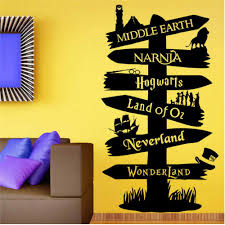 Amazon Com Wzxhn Wall Stickers Storybook Signpost Lord Of Ring Vinyl Decal Nursery Kids Room Art Decor Decor Vinyl Removable Mural Paper103x58cm Kitchen Dining