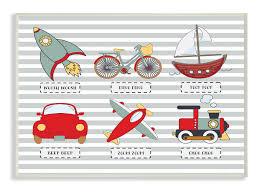 Stupell Industries Transportation Icons And Noises Framed Art Wayfair