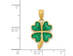 4 leaf clover charm pendant necklace