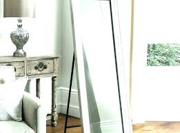 floor standing mirror with storage