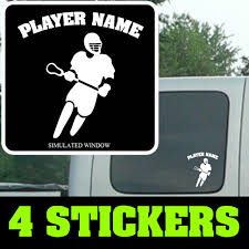 Lax Lacrosse Personalized Car Sticker Vinyl Lacrosse Personalized Car Lax Decal For Sale Online