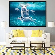 Diving Pig Funny Poster Nordic Style Kids Room Decor Animals Wall Art Canvas Painting Pop Art Posters And Prints For Bedroom Painting Calligraphy Aliexpress