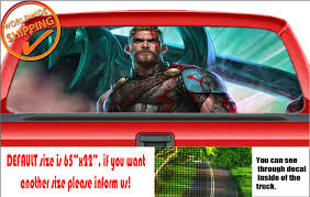 W956 Thor Ragnarok Perforated Car Decal Rear Window Truck Suv Wrap Print Vinyl For Sale Online Ebay