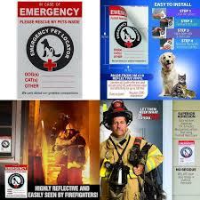In Case Of A Fire Emergency Firefighters Will See The Alert On Your Window These Stickers Help With Dog And Cat Safety Pet Inside Finder Sticker Or House And Know To Rescue