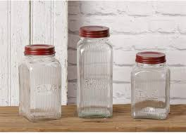 3 piece glass vintage looking canister