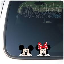 Mickey And Minnie Mouse Disney Peeking Color Vinyl Car Decal Disney Car Decals Disney Car Accessories Disney Decals