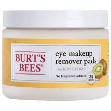 burt s bees eye makeup remover pads