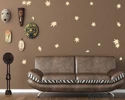 Maple Leaves Pattern Wall Decal Nursery Modern Vinyl Sticker