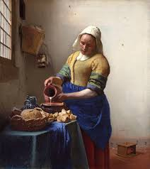 Jan Vermeer, La Lechera. Óleo sobre tela, 1660 - Departamento de ...