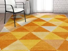 alvin modern geometric orange area rug