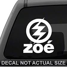 Amazon Com Zoe Banda De Rock White Vinyl Sticker Decal Car Wall Laptop 6x5 Automotive