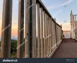 Wooden Fence Wooden Fence Balcony Separate Stock Photo Edit Now 1446951725