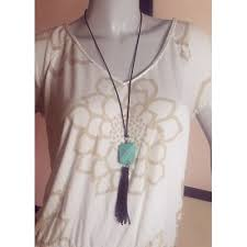 boho leather tassel necklace
