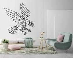 Amazon Com Kuarki Eagle Wall Decal Geometric Wall Sticker Geometric Art Decal Hq Three Dimensions Available Xl Home Kitchen