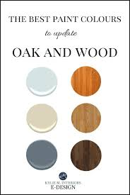 best paint colours to go with oak