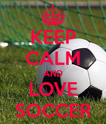keep calm and love soccer poster lani