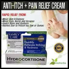 Family Care Anti-itch Relief Cream Hydrocortisone 1% Itching Rashes Eczema  0.5oz | eBay
