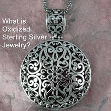 what is oxidized sterling silver jewelry