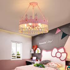Hot Price 01f2 Modern Kids Crystal Chandelier Lamp Decoration Children Room Ceiling Chandelier Nordic Girl Boy Hanging Lights Cicig Co