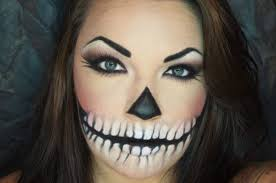 quick and easy halloween skull makeup