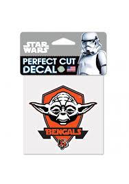 Cincinnati Bengals 4x4 Star Wars Yoda Auto Decal Orange 5714970