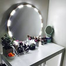 home diy vanity mirror lighted
