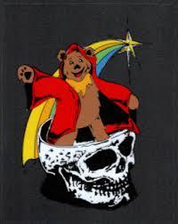 Grateful Dead Car Window Tour Sticker Decal Wizard Bear In A Skull