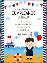 20 Invitacion Marinero Cumpleanos Primer Ano Bautismo 480 00