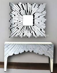 modern mirror and console table sets