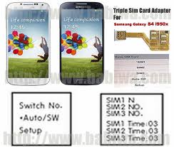 dual sim card adapter for samsung s4