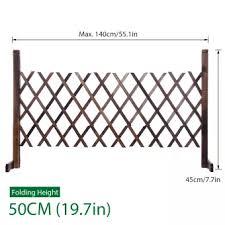 White Expanding Portable Fence Wooden Screen Gate Pet Dog Patio Garden Lawn Barrier 50cm Lazada Ph